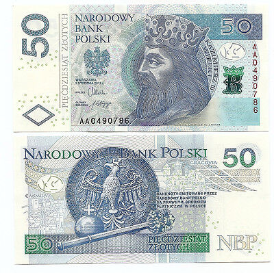 Poland 50 zloty 05.01.2012 issue 2014 P-185 UNC AA series