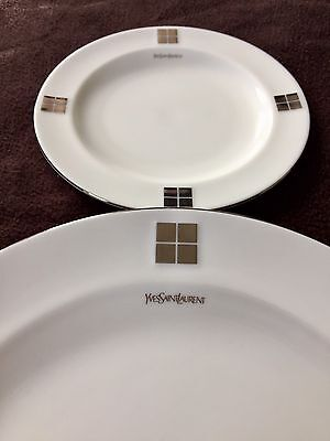 Authentic Yves Saint Laurent 6 Piece Plate Set, New