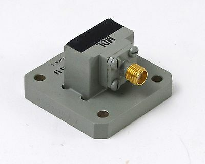 NEW MDL 75AC59 Coaxial Waveguide Adapter - WR-75, 10-15 GHz, SMA Female