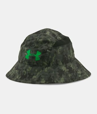Youth Boys Under Armour Reversible Switchback Bucket Sun Hat Black/camo Nwt