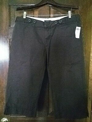 Old Navy Women's Brown Capri Cropped Pants Size 12 NEW Quick Shipping!