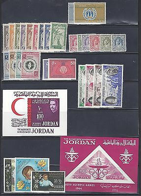 Jordan 1946 1966 Collection Of 37 Complete Mint Never Hinged Sets Including Impe