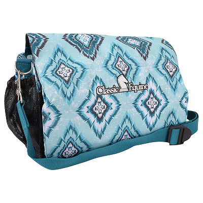 Classic Equine Deluxe Groom Tote Bag Teal Diamond