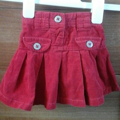 Baby Girls Next Cordroy Skirt Aged 6-12 Months