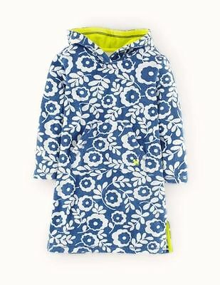 New Mini Boden Blue Flora Towelling Hoody 18-24 m 4-5 5-6 7-8 9-10 11-12 years