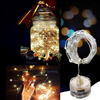 LED Battery Power Operated Copper Wire Mini Fairy Light String Xmas Party Decor