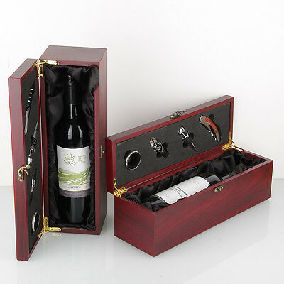 Bottle Jarrah Box / Black lining 4 Accessories