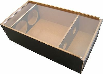Timber Elite 2x Bottle Gift Box & Perspex Lid