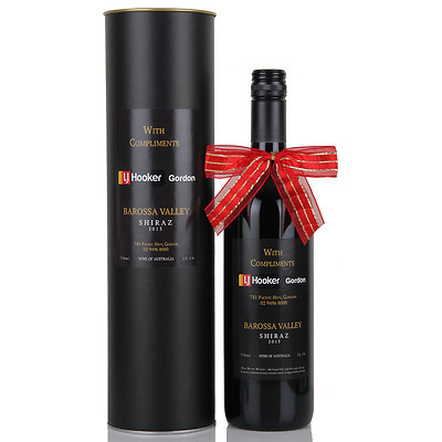 Single Wine Presentation Cylinder - Black