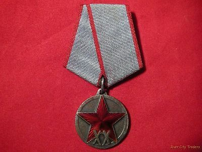Rare Soviet Medal - 20th Anniversary Of The Red Army Type 2