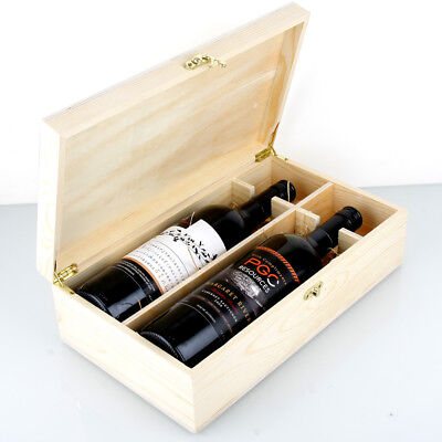 Premium Timber 2x Bottle Wine Gift Box