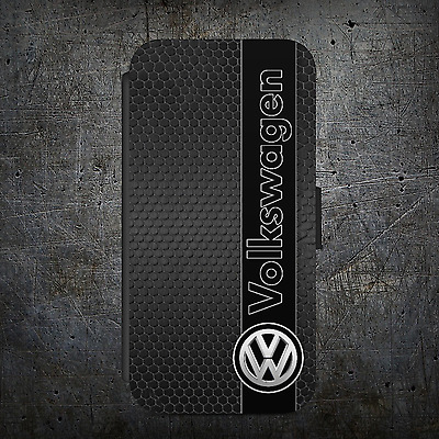 VW Golf logo Badge Gti FLIP WALLET Phone Case Cover iPhone Samsung and Iphone