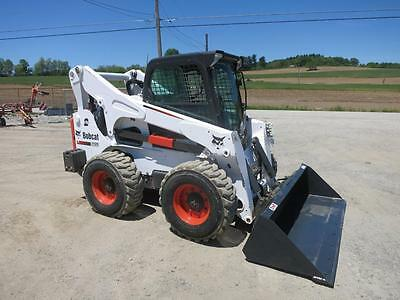 2013 Bobcat S850 Skid Steer Loader, Cab, Heat/AC, 2 Speed, 100HP Diesel, Weights