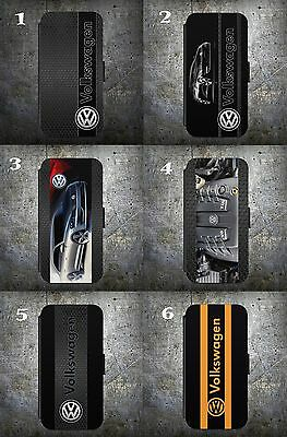 VW Golf logo Badge Gti FLIP WALLET Phone Case Cover iPhone Samsun CASE COVERS