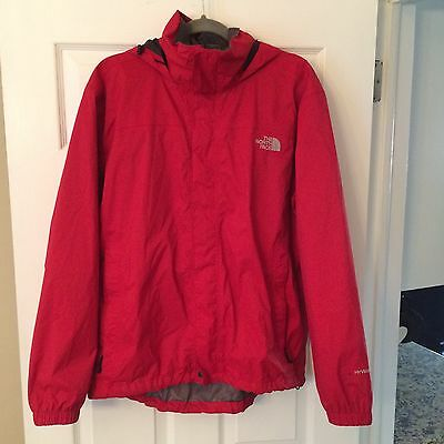 The North Face Men's Red Venture Hyvent Wind Rain Jacket Size Medium Hooded