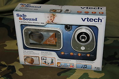 VTech Safe and Sound Full Color Video Baby Monitor VM342 NEW