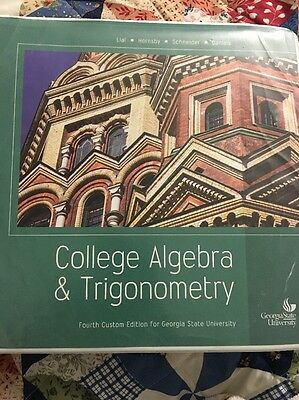 College algebra and trigonometry 4th edition 599 picclick college algebra trigonometry 4th custom edition for georgia state university fandeluxe Choice Image