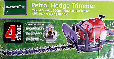 4 Stroke 26cc Petrol Hedge Trimmer With  Precision Blade Steel Blade