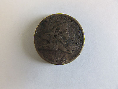 1858 Small Letter Flying Eagle Cent - Circulated