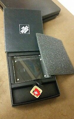Home Depot associate of the month Lapel Pin Display Box Card Holder