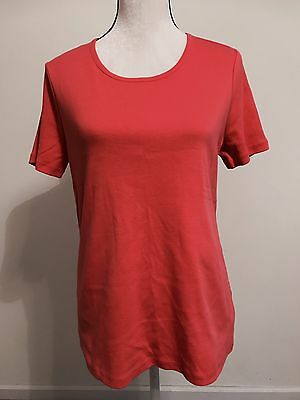Warm Pink/Red T-shirt Women's Short Sleeve Size Large