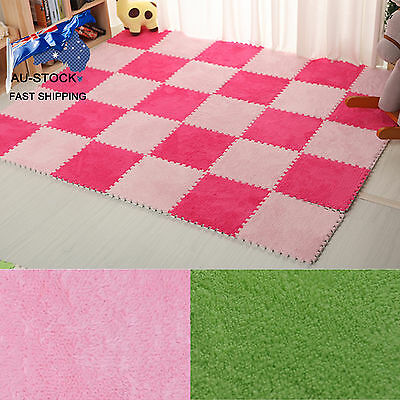 AU-STOCK 5PCS Baby Puzzle Mat Splice Room Floor Children Candy Stitching Carpets