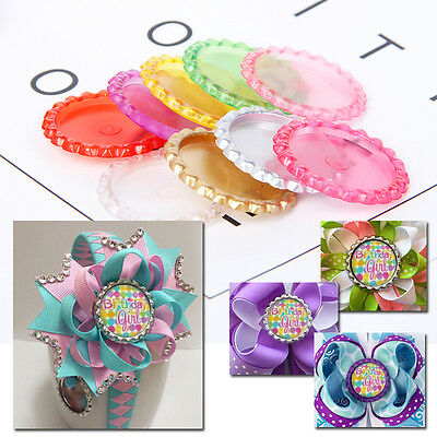 Plastic Candy Color Bottle Caps FLAT FACTORY PRESSED Flattened Necklace Pendant