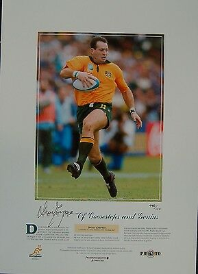David Campese  Wallabies Hand Signed Goosesteps Limited Edition Print  World Cup