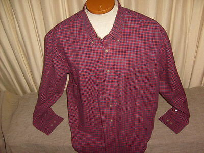 Men's Multicolor Haggar Forever New Casual Long Sleeve Shirt Size XXL