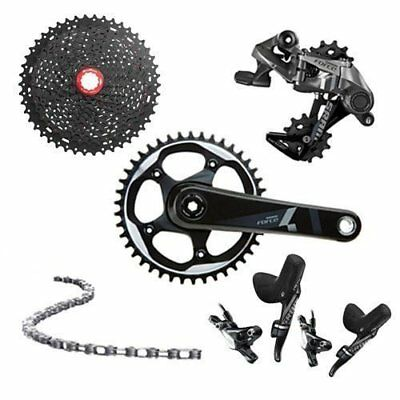 SRAM FORCE 1 FORCE CX1 1x11 Speed Hydraulic Brake W/Sunrace 11-46T Cassette
