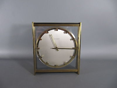60er Jahre Kienzle Automatic TISCHUHR Messing - desk clock 60s /3