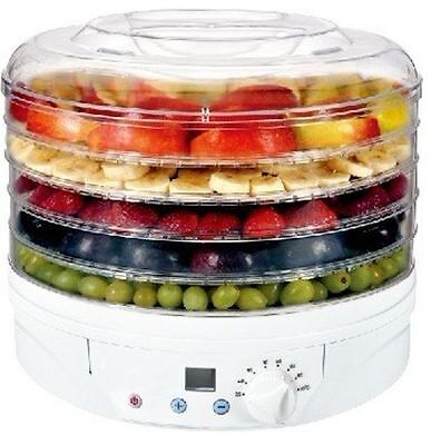 Electric Food Dehydrator Dryer Vegetable Fruit Preserver Jerky Beef Snack 5 Tray