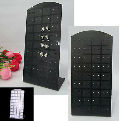 New72 Holes Earring Jewelry Showcase Plastic Display Rack Stand Holder Organizer