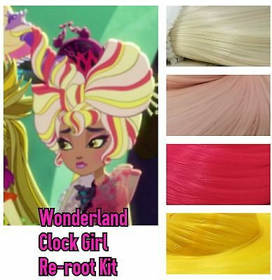 Ever After High Wonderland Alarm Clock Girl Reroot Nylon Hair Kit for OOAK Doll