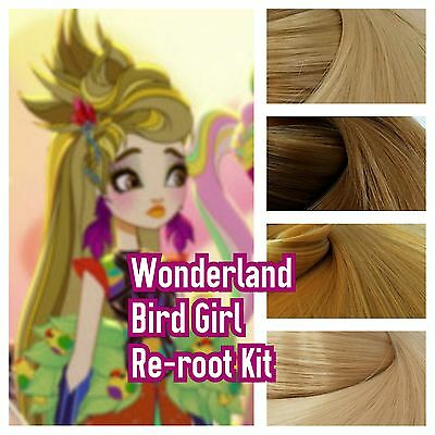 Ever After High Wonderland Bird Girl Reroot Nylon Hair Kit for OOAK Doll