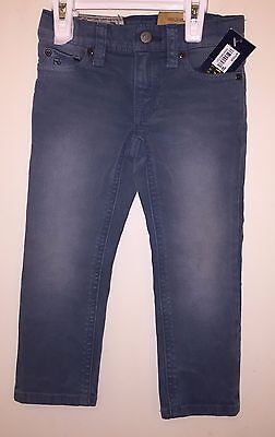 NWT Polo Ralph Lauren Toddler Boys Skinny Fit Blue Jeans Size 2/2T