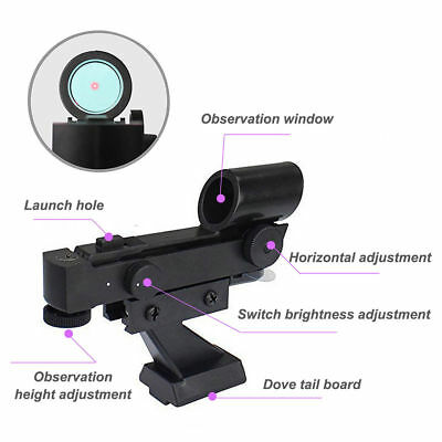 Red Dot Finder Scope Astronomy Star Finder Sighting forTelescope+Battery 70g AU