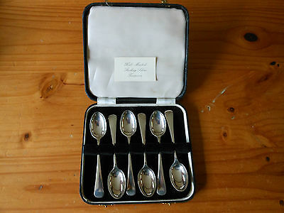 Sterling Silver Tea Spoons 1957.  Boxed Set of 6.