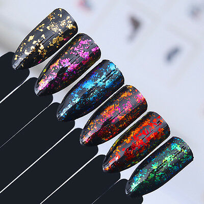 Born Pretty Chameleon Nail Glitter Sequins Irregular Paillette Flakes Powder DIY