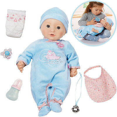 Zapf Creation Baby Annabell Puppe Brother 43 cm (Blau)