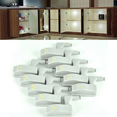 10pcs LED Light For Universal Cabinet Cupboard Hinge Moden Home Kitchen Lamp JX