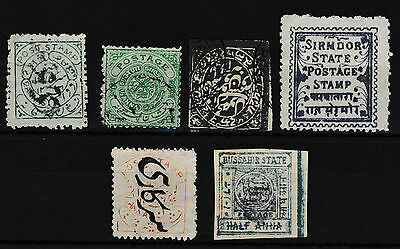Indian States-Mint and Used - a Selection of 5 Early Stamps