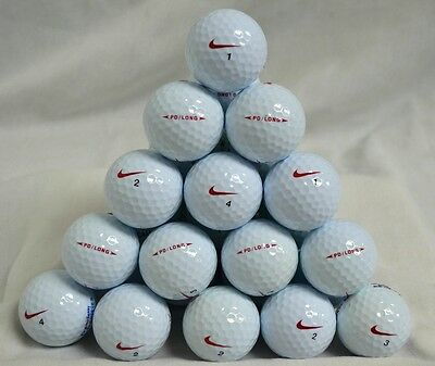 20 x NIKE PD LONG GOLF BALLS - PEARL/AAA GRADE *NIKE RED SWOOSH MODEL*