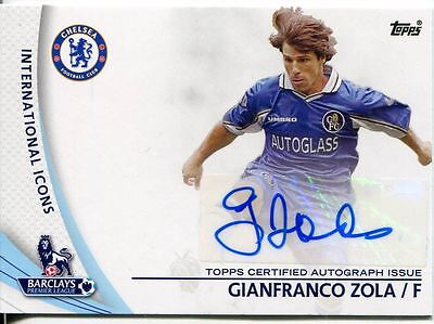 Topps Premier Gold Football 13/14 Autograph SP-GZ Gianfranco Zola