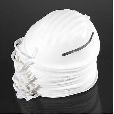 50 Nuisance Dust Masks Disposable Moulded Face Mask Cleaning Filter Respirator
