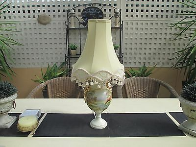 Old Style Hand Painted Lamp By SA Artist Aylene Cook