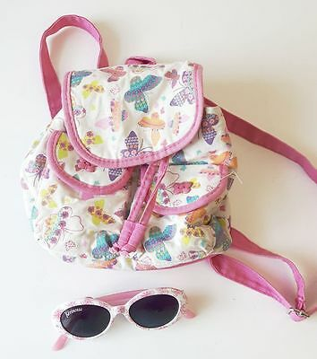 Claire's Accessories Kids Glitter Butterfly Mini Backpack With Sunglasses