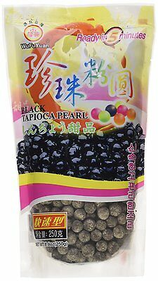 15 Packs of Wufuyuan Black Tapioca Pearl 250g for Bubble Tea Drink Boba Milk tea