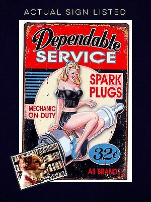 Service Station Reproduction Metal Advertising Sign