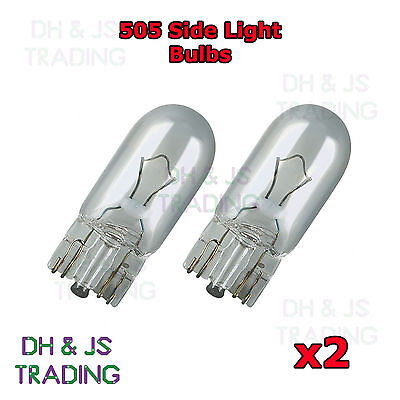 Park Light Beam Bulbs 2x Vauxhall Vectra MK2 Genuine Neolux Clear Halogen Side